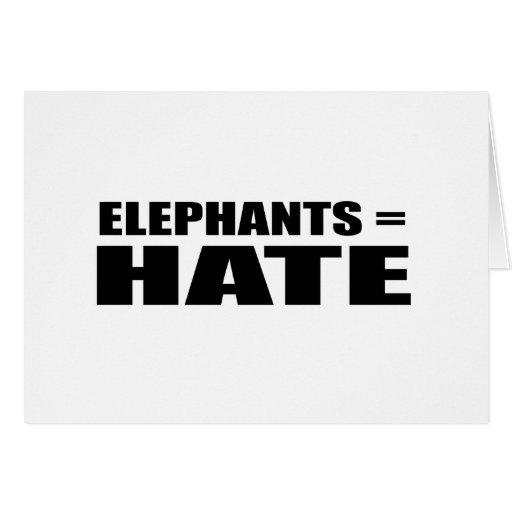 Elephants = Hate Card