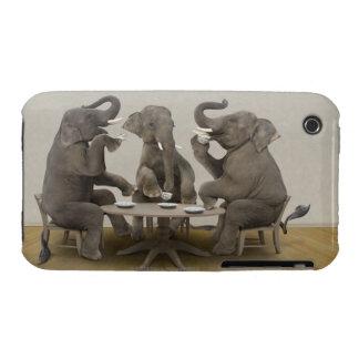 Elephants having tea party iPhone 3 Case-Mate case