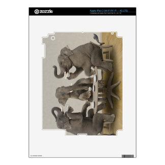 Elephants having tea party decal for iPad 3