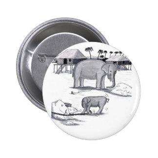 Elephants Held Captive Pinback Buttons