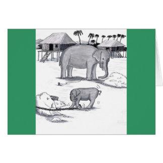 Elephants Held Captive Card