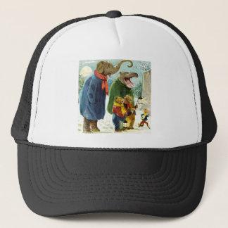 Elephants Hippopotamus & Bears Christmas Caroling Trucker Hat
