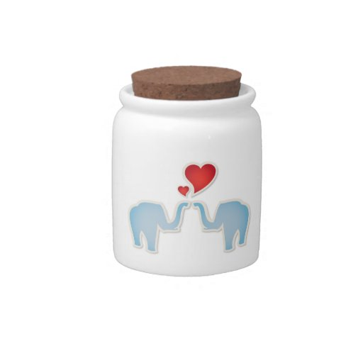 Elephants In Love Candy Dishes