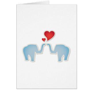 Elephants In Love Card