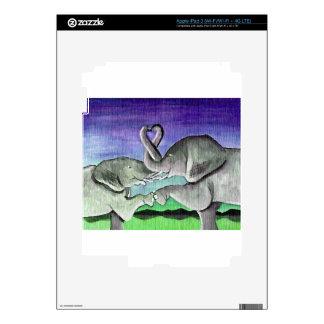 elephants in love skin for iPad 3