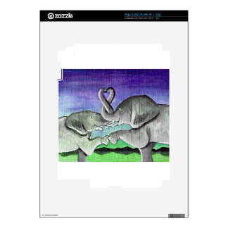 elephants in love decal for the iPad 2