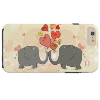 Elephants In Love With Red Valentines Hearts Tough iPhone 6 Plus Case