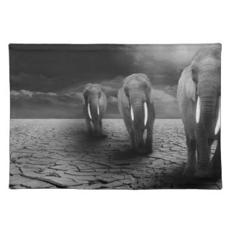Elephants in the Desert Cloth Placemat