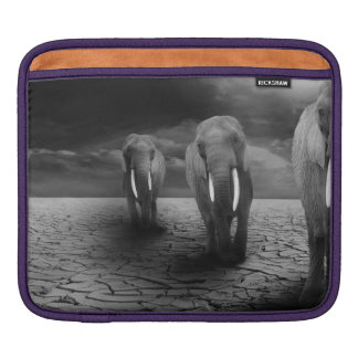 Elephants in the Desert iPad Sleeve