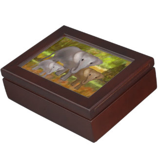 Elephants in the Rainforest Memory Boxes
