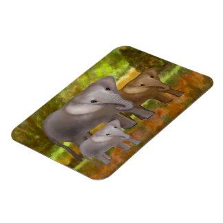 Elephants in the Rainforest Premium Magnet