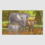 Elephants in the Rainforest Stickers