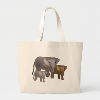 Elephants in the Wild Canvas Tote Tote Bags