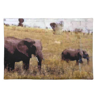 Elephants In The Wild Placemat