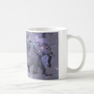 Elephants in Winter Wraparound Classic White Coffee Mug