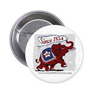 Elephants Kids Button