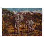 Elephants & Kilimanjaro Thank You Card
