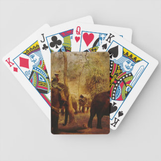 Elephants Learning Bicycle Playing Cards