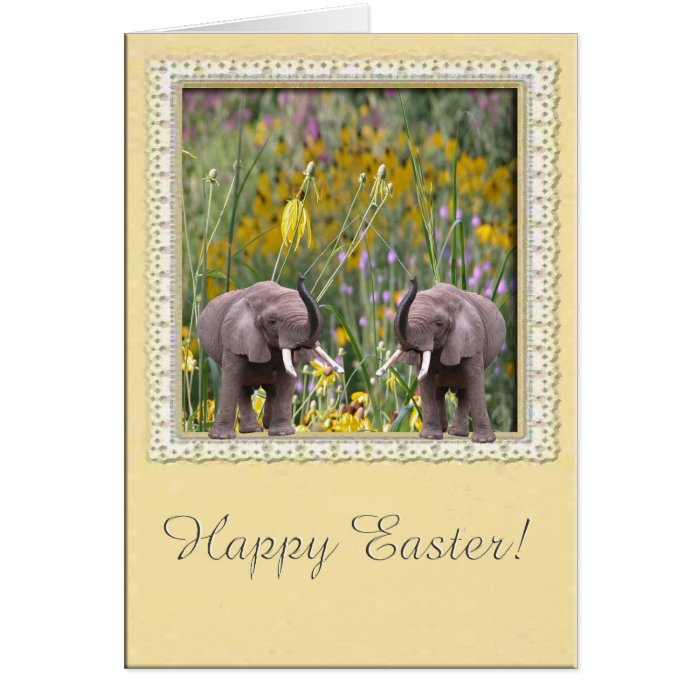 Elephants love to garden. card