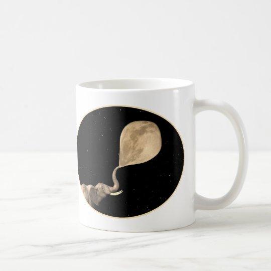 Elephants Make Full Moon Coffee Mug