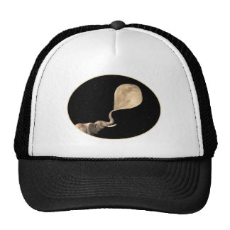 Elephants Make Full Moon Trucker Hat