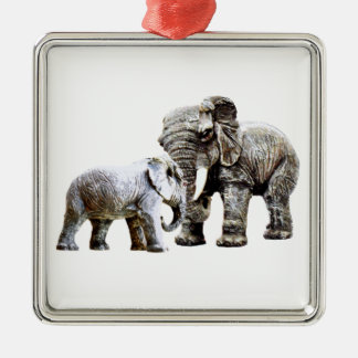 elephants metal ornament