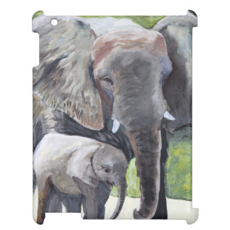 Elephants Mother iPad Case