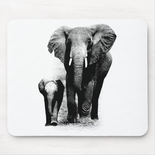 Elephants Mouse Pad