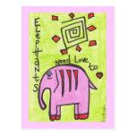 Elephants need love too POSTCARD