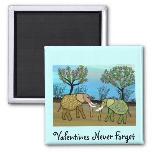 Elephants Never Forget 2 Inch Square Magnet