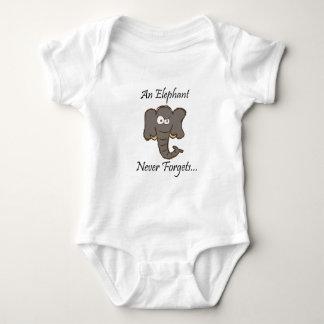 Elephants Never Forget Baby Bodysuit