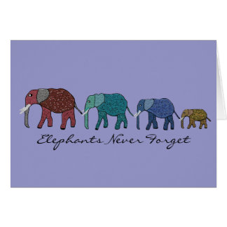 Elephants Never Forget Birthday Cards