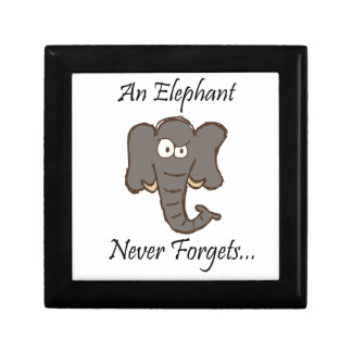 Elephants Never Forget Gift Box