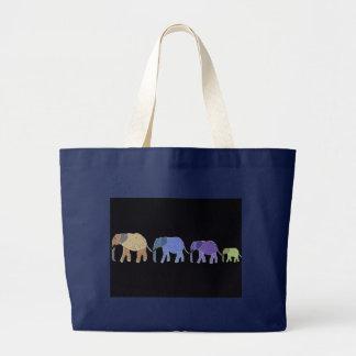 Elephants Never Forget Large Tote Bag