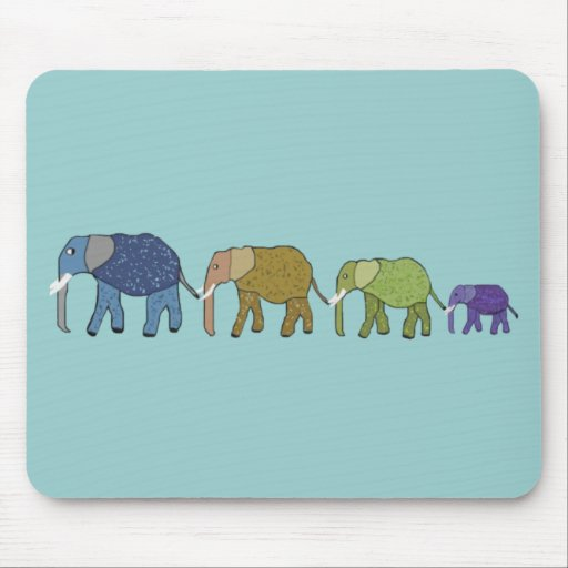 Elephants Never Forget Mouse Pads