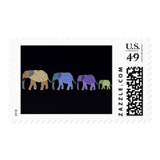 Elephants Never Forget Postage Stamps