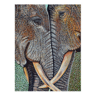 Elephants Never Forget Postcard