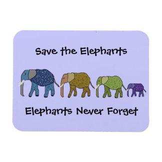 Elephants Never Forget Premium Magnet