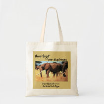 Elephants never forget  to raise bipolar awareness tote bag