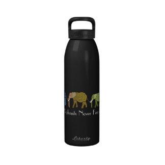 Elephants Never Forget  Water Bottles
