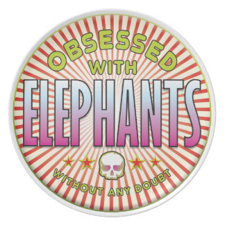 Elephants Obsessed R Party Plate