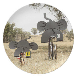 Elephants on Bikes Plate