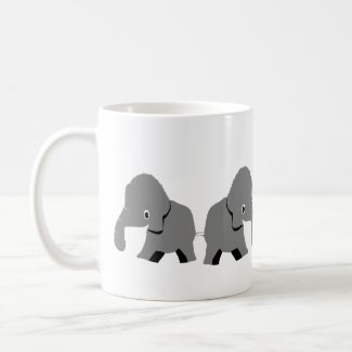 Elephants On Coffee Mug