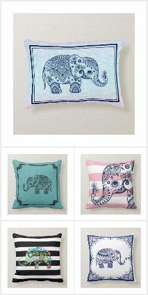 Elephants On pillows