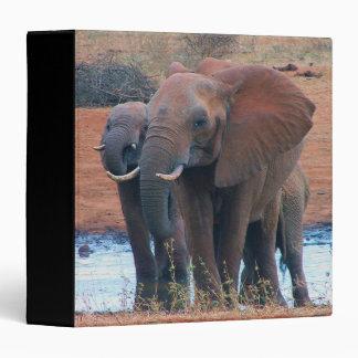 Elephants on Safari Binder