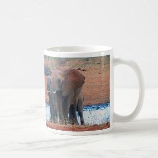 Elephants on Safari Coffee Mug