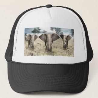 Elephants on the Savanna Trucker Hat