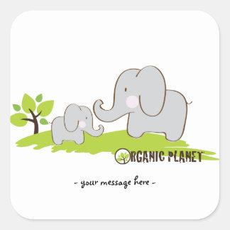 Elephants Organic Planet Stickers