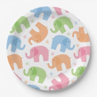 Elephants Paper Plates