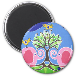 Elephants Parading in the Forest Magnet